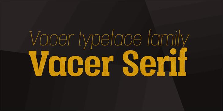Vacer Serif Personal font by Måns Grebäck