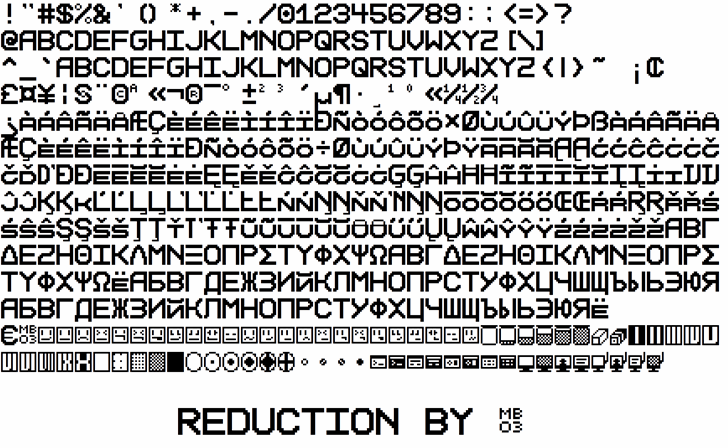 Reduction font by MB03 Font Design