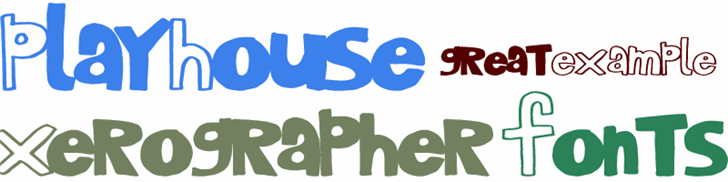 PlayHouse font by Xerographer Fonts