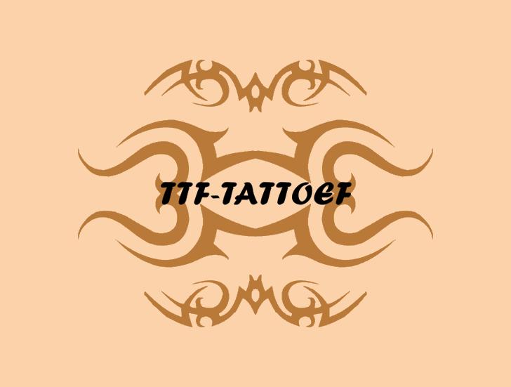 TTF_TATTOEF font by Intellecta Design