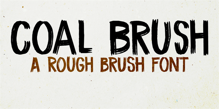 DK Coal Brush font by David Kerkhoff