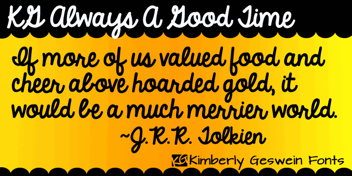 KG Always A Good Time font by Kimberly Geswein