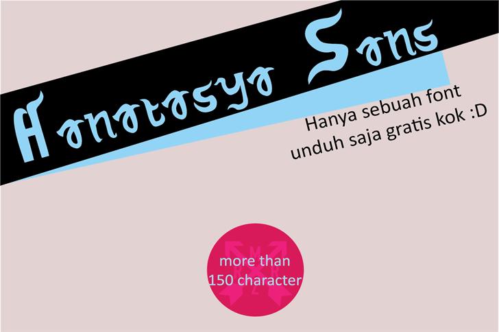 Hanatasya Sans font by Murizar