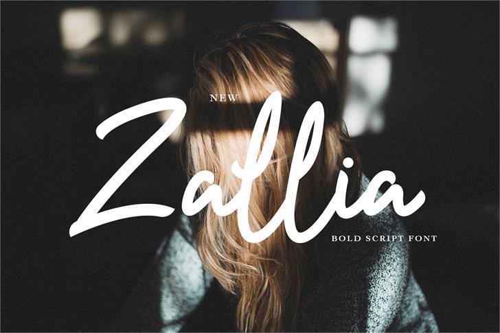 Zallia Free font by sixtwenty studio