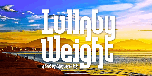 Lullaby Weight font by Chequered Ink