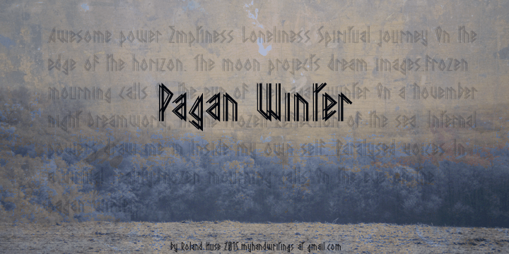 Pagan Winter font by Roland Huse Design