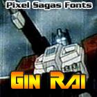 Gin Rai font by Pixel Sagas