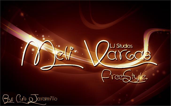 Meli Vargas font by LJ Design Studios