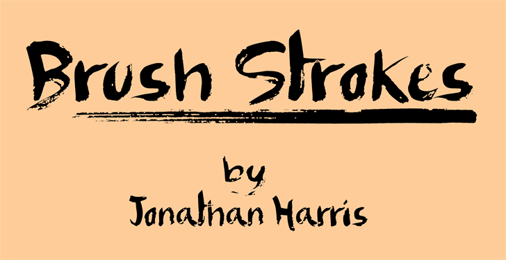 Brush Strokes font by Jonathan S. Harris
