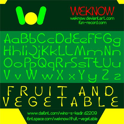 fruit vegetable font by weknow