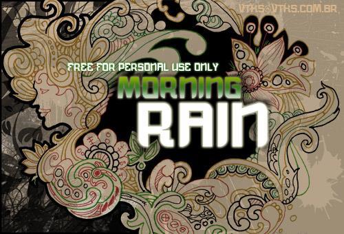 vtks morning rain font by VTKS DESIGN