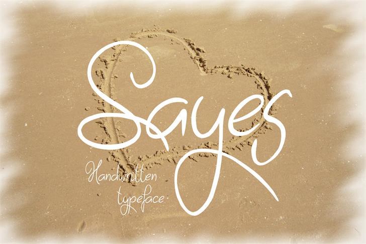 Sayes font by Eva Barabasne Olasz