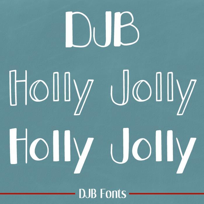 DJB Holly Jolly font by Darcy Baldwin Fonts