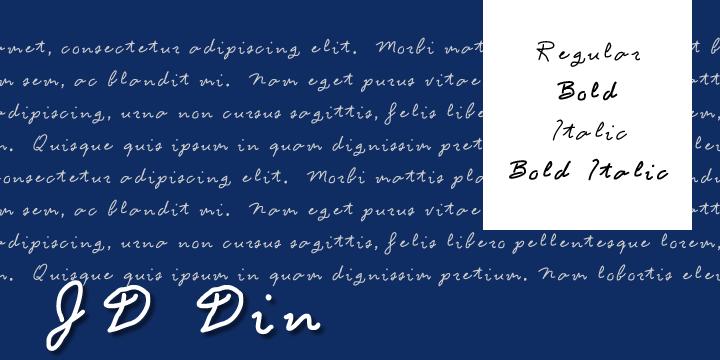JD Din font by Jecko Development