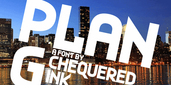 Plan G font by Chequered Ink