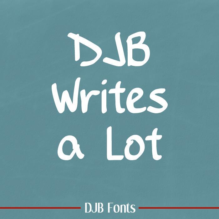 DJB Writes a Lot font by Darcy Baldwin Fonts