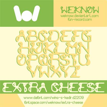 extra cheese font by weknow