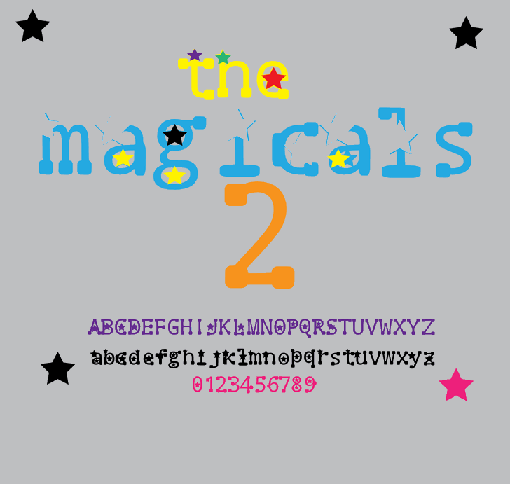 the magicals 2 font by Cé - al