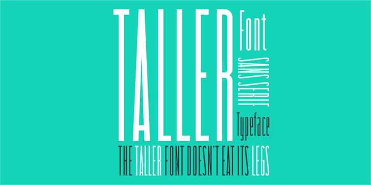 taller font by Zetafonts
