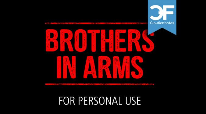 CF Brothers in Arms PERSONAL font by CloutierFontes