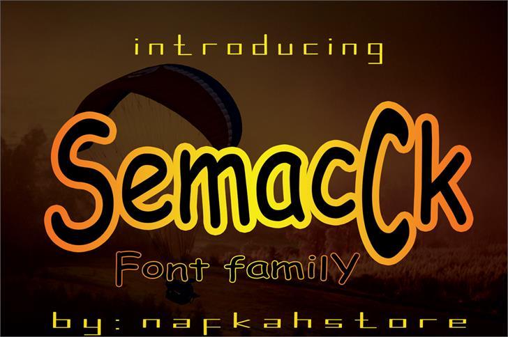 SemacCk font by nafkah