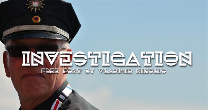 Investigation font by Vladimir Nikolic