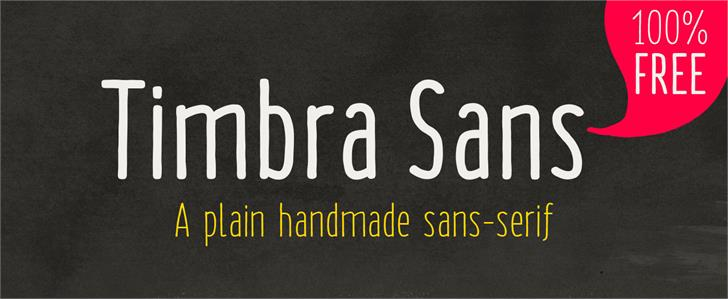 Timbra Sans font by Illunatic