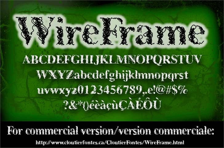 CF WireFrame Demo font by CloutierFontes