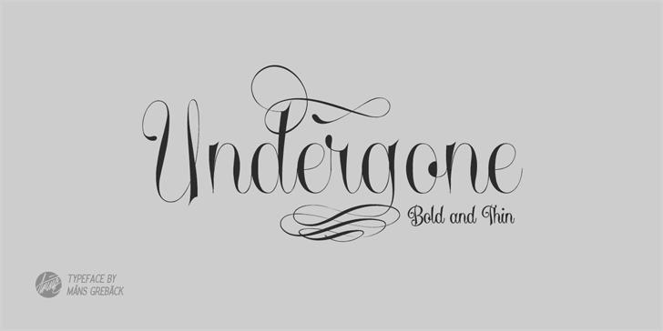 Undergone Personal Use font by Måns Grebäck