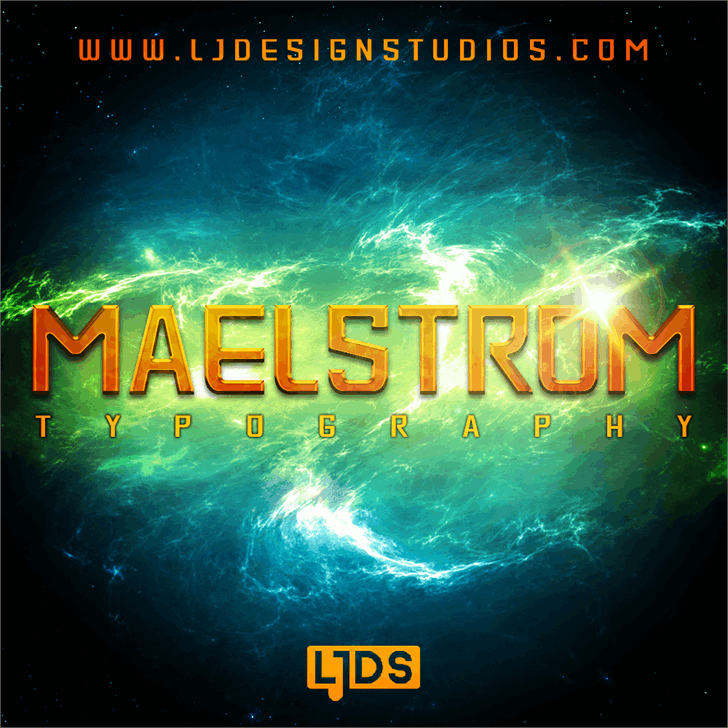 MAELSTROM Personal Use font by LJ Design Studios