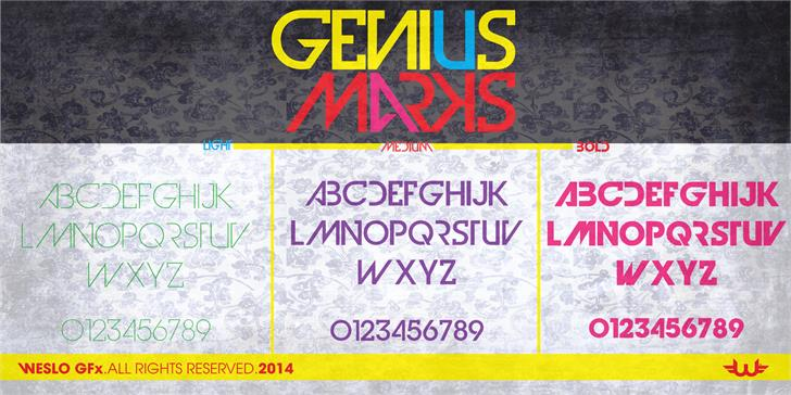 Genius Marks font by weslo