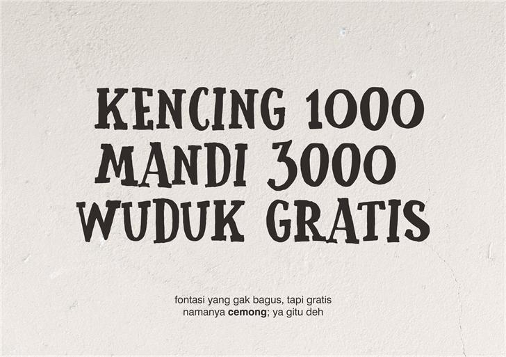 Cemong font by Gunarta