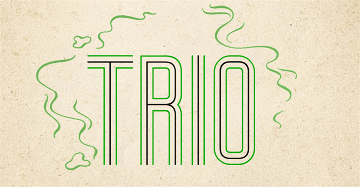 Trio font by Vladimir Nikolic
