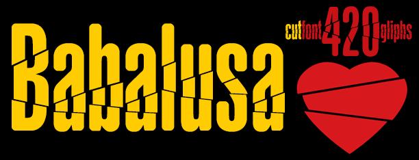 Babalusa Cut font by deFharo