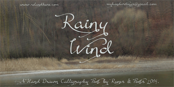 Rainy Wind font by Roland Huse Design