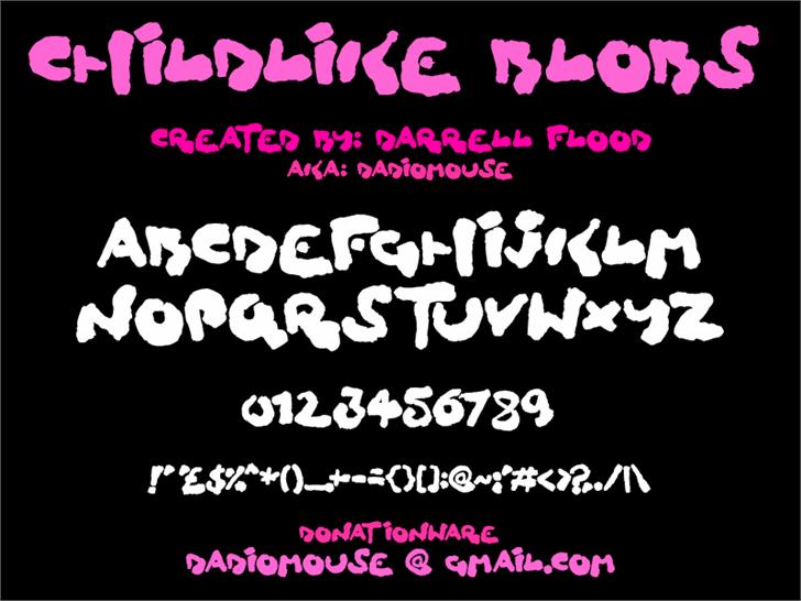 Childlike Blobs font by Darrell Flood