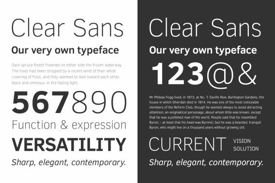 Clear Sans font by Intel