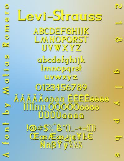Levi-Strauss font by Matias Romero