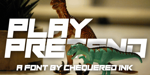 Play Pretend font by Chequered Ink
