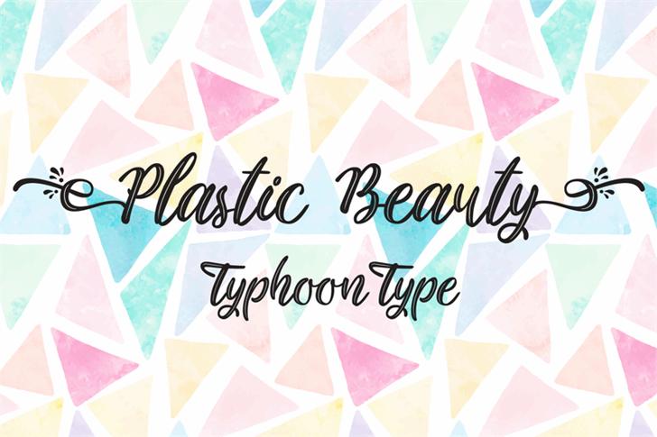 Plastic Beauty font by Typhoon Type - Suthi Srisopha