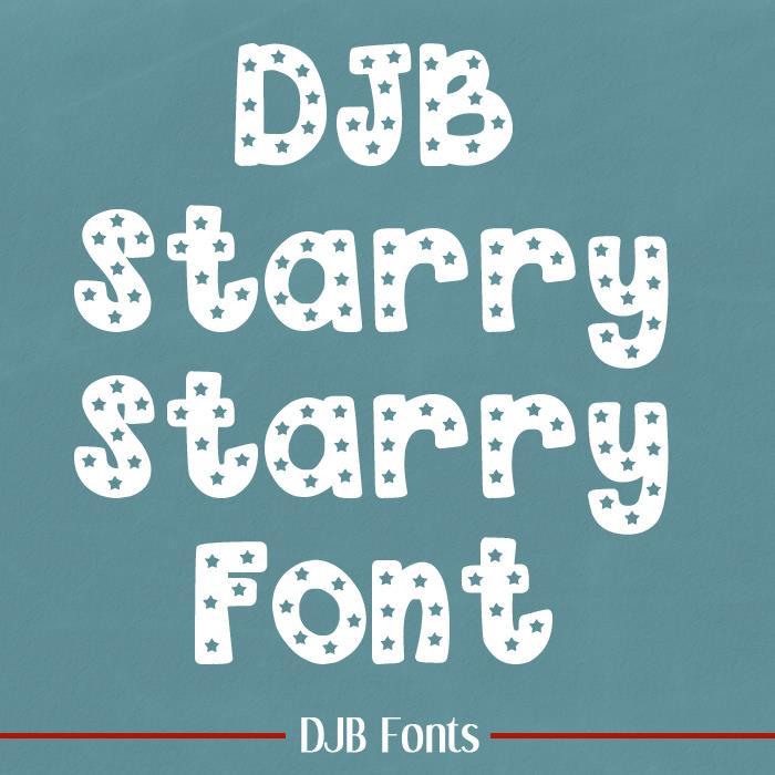 DJB Starry Starry Font by Darcy Baldwin Fonts