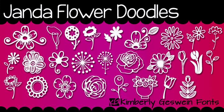 Janda Flower Doodles font by Kimberly Geswein