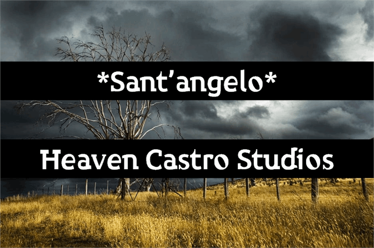 Sant'angelo font by heaven castro