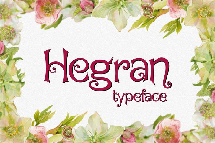 Hegran font by Eva Barabasne Olasz
