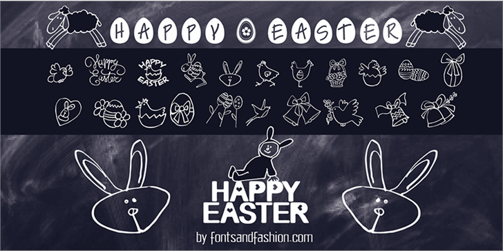 HAPPY EASTER font by Fontsandfashion