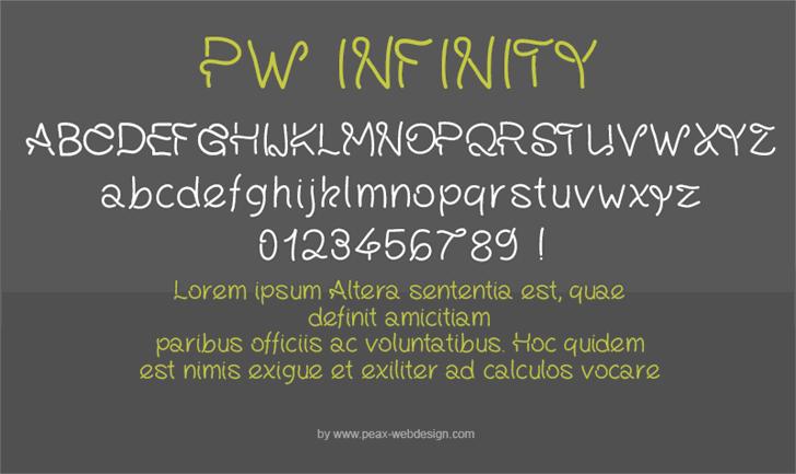 PWInfinity font by Peax Webdesign