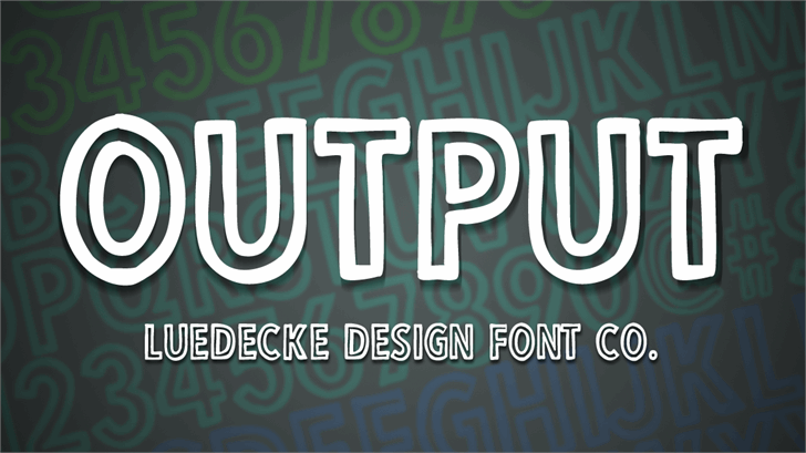 Output font by Jake Luedecke Motion & Graphic Design