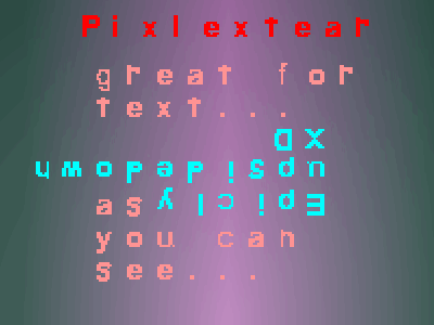 Pixlextear font by No foundry