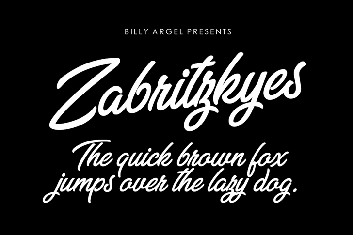 Zabritzkyes Personal Use font by Billy Argel