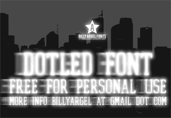 DOTLED font by Billy Argel